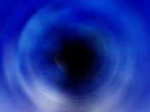 Blauw Spiraalvormig Zwart Gat Royalty-vrije Stock Afbeelding