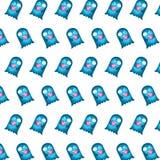 Blauw spook - stickerpatroon 29 royalty-vrije illustratie