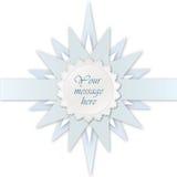 Blauw steretiket. De kaart van de groet voor bithday jong geitje of partij Royalty-vrije Stock Afbeeldingen