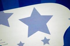 Blauw sterontwerp Stock Fotografie