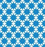 Blauw sterren naadloos patroon. Stock Fotografie