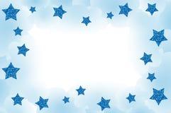 Blauw Sterrig Frame Royalty-vrije Stock Afbeeldingen