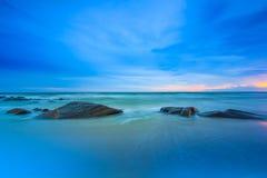 Blauw strand Royalty-vrije Stock Afbeeldingen