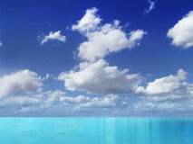 Blauw strand Stock Foto's