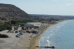 Blauw strand Episkopi Cyprus Stock Foto