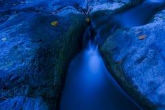 Blauw stroomlandschap stock afbeeldingen