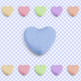Blauw suikergoedhart Royalty-vrije Stock Fotografie