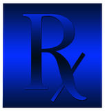 Blauw symbool Rx Stock Afbeelding