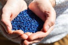 Blauw synthetisch materiaal stock foto