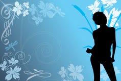 Blauw Tanger vector illustratie