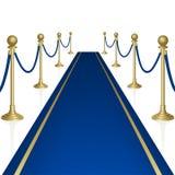Blauw tapijt Stock Afbeeldingen