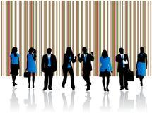Blauw team Stock Foto's