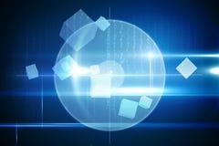 Blauw technologieontwerp met cirkel Royalty-vrije Stock Afbeelding