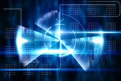 Blauw technologieontwerp met cirkel Royalty-vrije Stock Foto