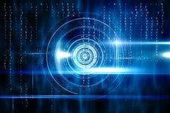 Blauw technologieontwerp met cirkel Stock Fotografie