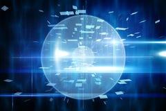 Blauw technologieontwerp met cirkel Stock Afbeelding