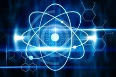 Blauw technologieontwerp met cirkels Stock Fotografie