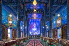 Blauw Tempel of Wat Rong Sua Ten in Chiang Rai Province, Thailand Stock Afbeelding