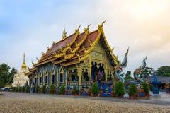 Blauw Tempel of Wat Rong Sua Ten in Chiang Rai Province, Thailand Stock Afbeeldingen