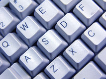 Blauw toetsenbord Stock Foto