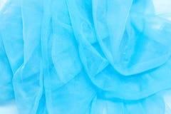 Blauw Tulle Stock Afbeelding