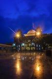 Blauw Uur bij Moskee Royalty-vrije Stock Afbeeldingen
