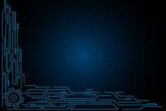 Blauw van de lijn futuristisch technologie hud abstract vectorontwerp als achtergrond Royalty-vrije Stock Fotografie