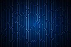 Blauw van de de raads abstract technologie van de lijnkring de computer vectorontwerp als achtergrond voor toekomst Royalty-vrije Stock Foto's