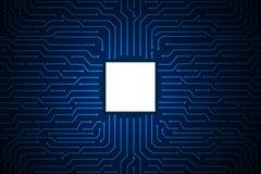 Blauw van de de raadstechnologie van de lijnkring abstract vectorontwerp als achtergrond voor toekomstige computerzaken Royalty-vrije Stock Foto's