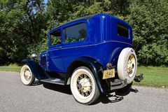 blauw van 1931 repurposed Modelt ford-auto Royalty-vrije Stock Foto