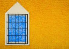 Blauw venster stock afbeelding