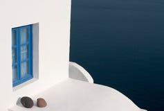 Blauw venster Royalty-vrije Stock Afbeeldingen