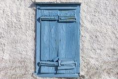 Blauw Venster Geïsoleerde stock foto