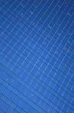 Blauw vensterspatroon Royalty-vrije Stock Foto's