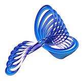 Blauw Verdraaid Abstract Ontwerp Vector Illustratie