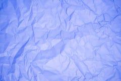 Blauw verfrommeld document Stock Afbeeldingen