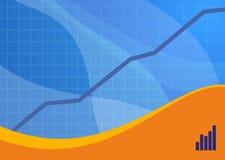 Blauw verkooplandschap als achtergrond Stock Afbeeldingen