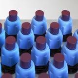 Blauw verlicht elektronikadetail Royalty-vrije Stock Afbeeldingen
