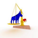 Blauw versus Rood Royalty-vrije Illustratie