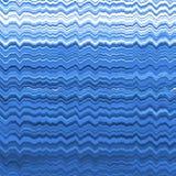 Blauw vervormd lijnenpatroon Stock Afbeeldingen