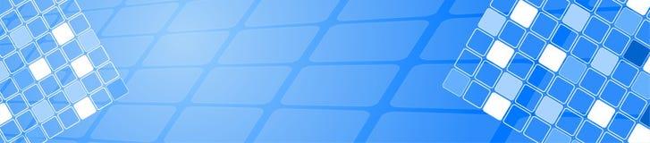 Blauw vierkant embleem Stock Afbeelding