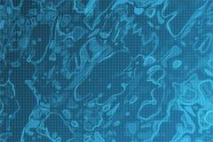Blauw vlek en celpatroon stock illustratie