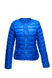 Blauw vrouwelijk warm jasje Stock Fotografie