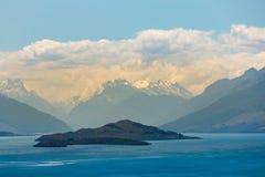 Blauw Wakatipu-watermeer, Zuideneiland royalty-vrije stock foto