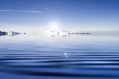 Blauw water. Stock Afbeelding