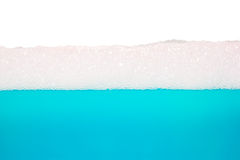 blauw water, bellentextuur Stock Foto