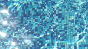 Blauw water in de pool stock video