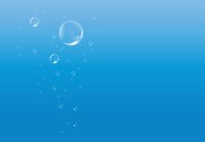 Blauw water met bellen royalty-vrije illustratie