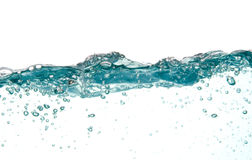 Blauw Water in Motie Royalty-vrije Stock Fotografie