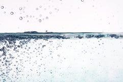 Blauw Water in Motie Stock Fotografie